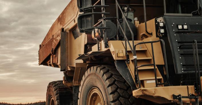Large Mining Dump Truck